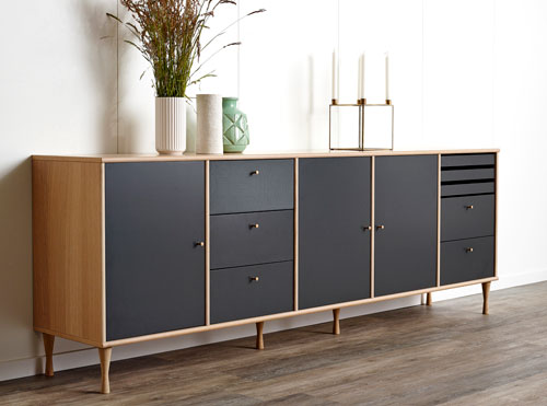 MISTRAL sideboard. 5 sections.