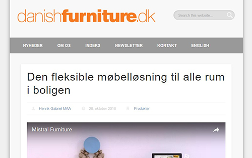 Newletter from danishfurniture.dk