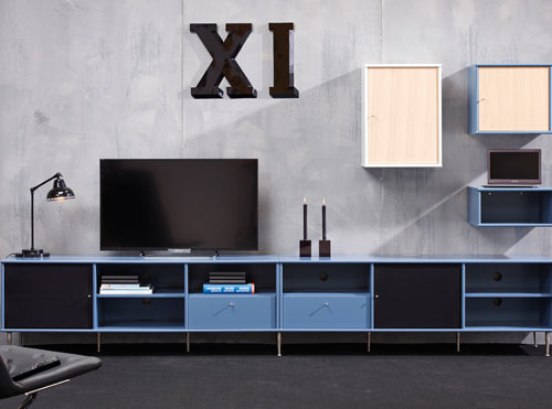 MISTRAL AV in hot blue.