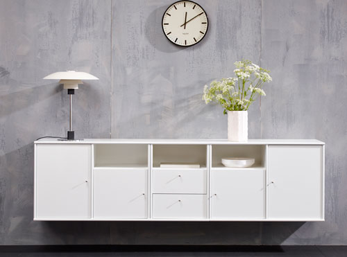 MISTRAL cabinets No. 021+031 in white.